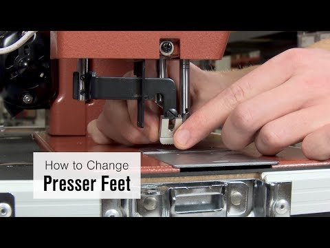 How to Change Presser Feet to Double Cording Foot on Ultrafeed LS-1