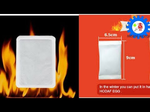 How to make a simple pocket hot pack - Winter