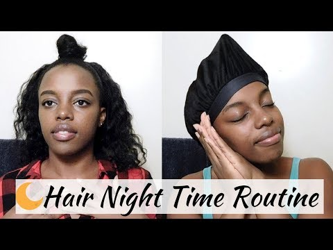 Nighttime Hair Routine For Relaxed Hair 2018