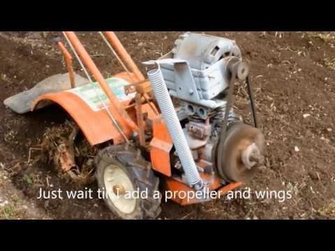 Easy electric garden tilling - simple and good electric tiller,