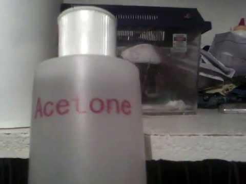 Ways to dissolve foam: Acetone