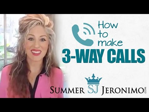 Network Marketing: How to Make 3 Way Calls