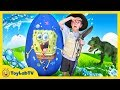 Giant Mystery Egg T Rex Dinosaur Surprise Toy amp Family Fun Outdoor Challenge With Toys For Kids