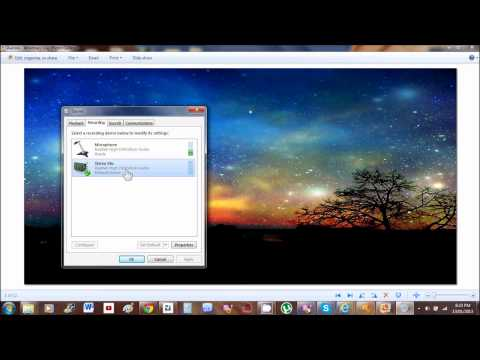 Enabling Sound Card Windows 7