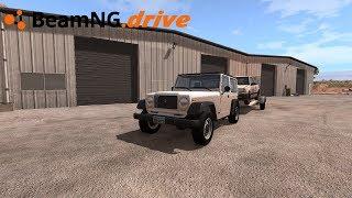 BeamNG drive - LEVANDO CARRO COM JEEP.