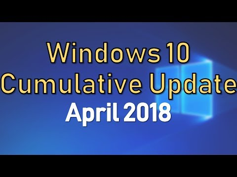 Cumulative Update for Windows 10 v1709 April 2018