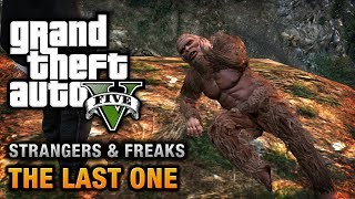Grand Theft Auto V Strangers and Freaks Side-Mission Gold Medal Walkthrough \ Guide Video in HD  NOTE: This extra mission will be unlocked for Franklin after you achieve 100% completion in GTA V.  GTA V Strangers and Freaks Missions Playlist: http://www.youtube.com/playlist?list=PLQ3KzJPBsAHkmIIrAv_sd_UwoA4FhdUCG  ===================================  Mission: The Last One  Given by: Unknown  Character: Franklin  Gold Medal Objectives: ● Wounded - Shoot the Sasquatch 3 times before catching it ● Hunter - Kill 4 animals whilst chasing the Sasquatch ● Mr Green - Go to the scat site on foot  ===================================  Related Achievements \ Trophies: ● Solid Gold, Baby! - Earn 70 Gold Medals on Missions and Strangers and Freaks.  ===================================  Game available on: Sony PlayStation 3 & Microsoft Xbox 360 Video recorded on: Xbox 360  =================================== ===================================  GTA Series Videos is a dedicated fan-channel keeping you up to date with all the latest news, video walkthroughs and official trailers of the most successful video games published by Rockstar Games, including Grand Theft Auto series, Red Dead Redemption, Max Payne, L.A. Noire, Bully and many others. This channel is in no way tied to Rockstar Games or Take-Two Interactive.  Follow GTA Series Videos on: || YouTube - http://www.youtube.com/GTASeriesVideos || Google+ - http://www.google.com/+GTASeriesVideos || Facebook - http://www.facebook.com/GTASeriesNews || Twitter - http://www.twitter.com/GTASeries  For more info and videos visit: http://www.GTASeriesVideos.com | http://www.GTA-Series.com | http://www.GTA-Downloads.com | http://www.Games-Series.com