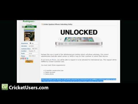 Cricket Wireless iPhone Unlocking info for International Use and WARNING