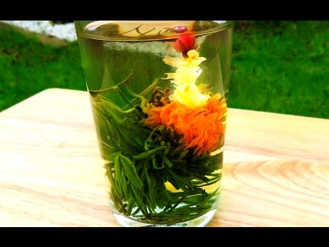 How To Make Beautiful Blooming flowers | Flowering Tea Time Lapse