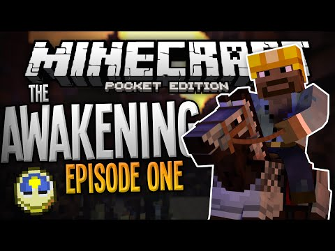 OH!!! THE HORROR!!! - The Awakening Adventure Parkour Map Ep. 1 - Minecraft PE (Pocket Edition)