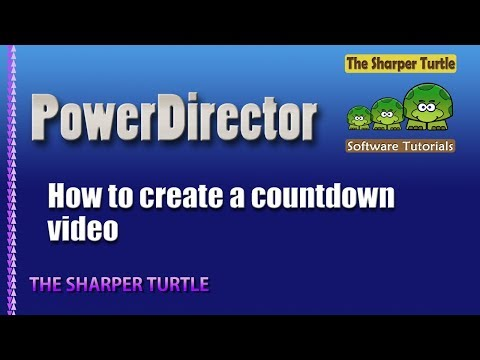 PowerDirector - How to create a countdown timer video