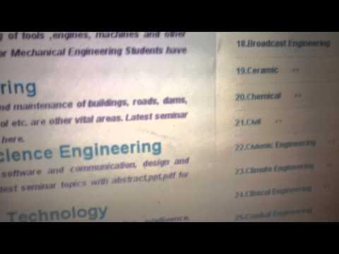 Engineering Seminar Topics & Presentation