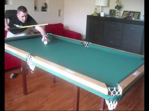 Home made pool table, cushions test
