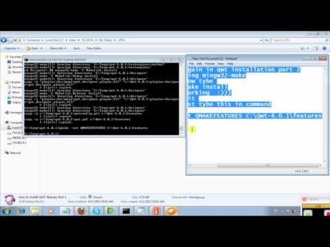 How to install QWT liberary Part 2.FLV