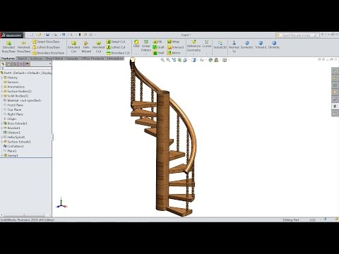 How to Sketch Spiral Stairs in SolidWorks