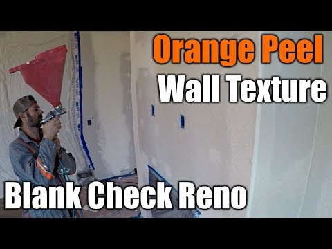 Blank Check Living Room Remodel | Wall Texture | THE HANDYMAN