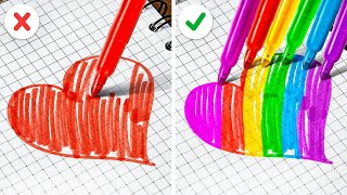 COOL BEAUTY HACKS TO BECOME POPULAR || Rainbow School and Mixing 10000 Skittles by 123 GO! SCHOOL