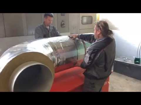 ISOMAT PreFab - Industrial pipe sections on Aluminium Foil