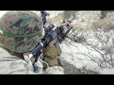 Marines Conduct Rigorous Training In Snowy Mountain Environments