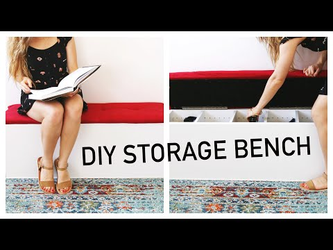 Easy DIY Storage Bench