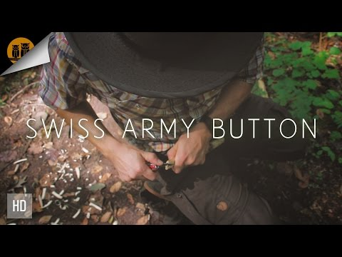 Carving a Button with a Swiss Army Knife • Bushcraft Skills