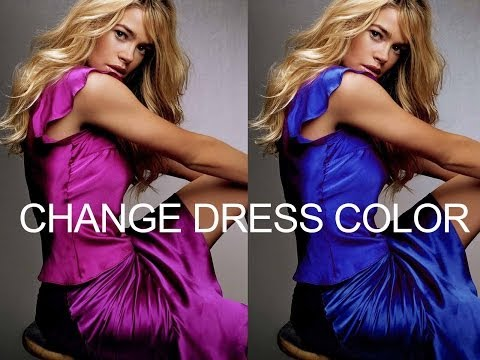 Photoshop : How to change Dress Color without changing Skin tone