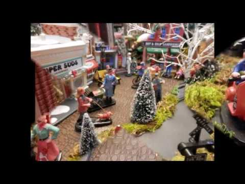 How to build a MINIATURE CHRISTMAS  VILLAGE