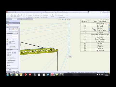 SOLIDWORKS 2012 - Balloons & Bill of Materials