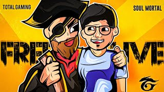 Free Fire Live Total Gaming x Mortal Titan Collab 🕊️Twitter:- https://twitter.com/total_gaming093 Total Gaming Live Channel:- ...
