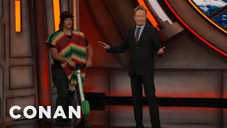 Norman Reedus Parked His E-Scooter At #ConanCon  - CONAN on TBS