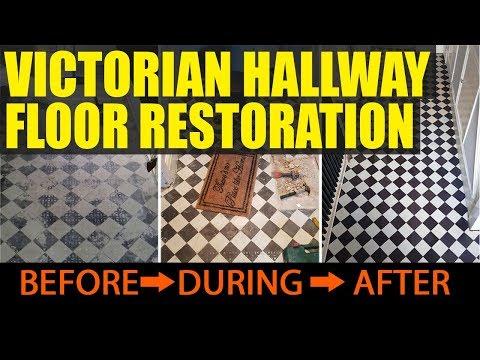 Victorian Hallway Tile Restoration Rotherham Yorkshire