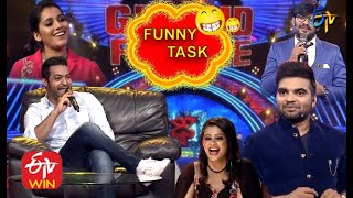 Jr.NTR   Sudheer   Rashmi   Pradeep    Varshini   Funny Task All in One   Dhee 10   ETV Telugu