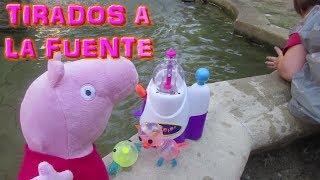 Globos De Aire Oonies Con Bebe Humano Y Peppa Pig En La Fuente | Videos De Peppa Pig En Español