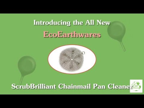 EcoEarthwares ScrubBrilliant Chainmail Pan Cleaner