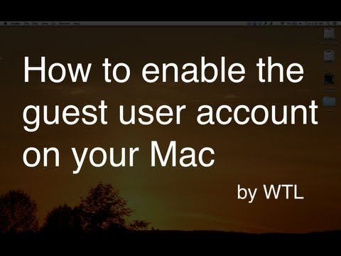 How to enable the guest user account on your Mac