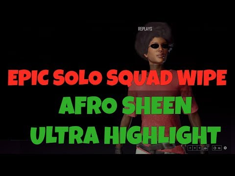 PUBG   Solo Squad Wipe   Afro Sheen Ultra Highlight