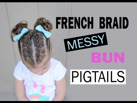French braid pigtails - toddler hairstyles