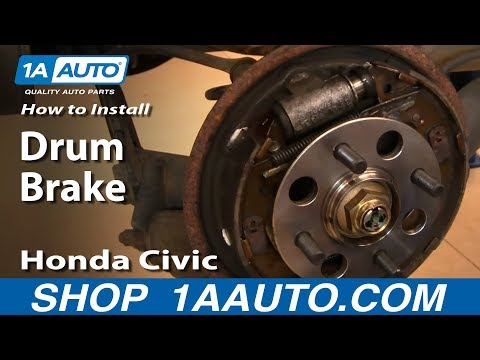 How To Install Replace Rear Drum Brakes Honda Civic 01-05 1AAuto.com