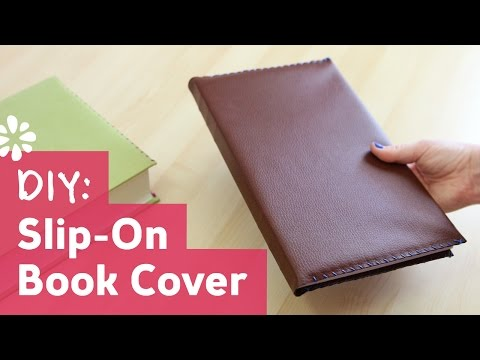 DIY Slip-On Leather Book Cover   Sea Lemon