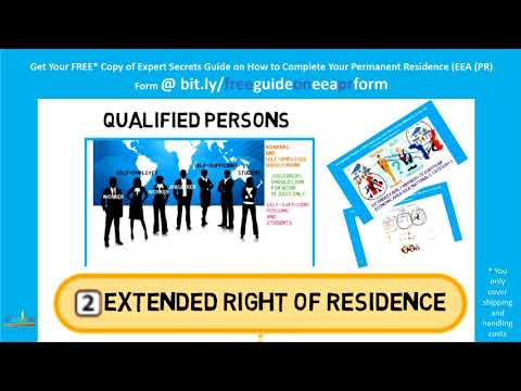 Rights of Residence of EEA Nationals and Their Family Members
