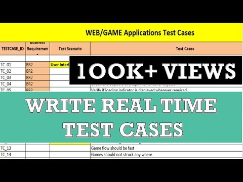 Writing Manual Test Cases | How to Write a Test Case