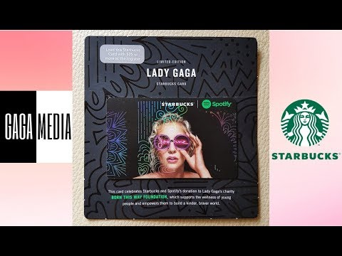 Lady Gaga - Joanne Starbucks Card RARE MISPRINTED Limited Edition (Review)