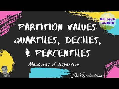 Partition values: Quartiles, Deciles, and Percentiles