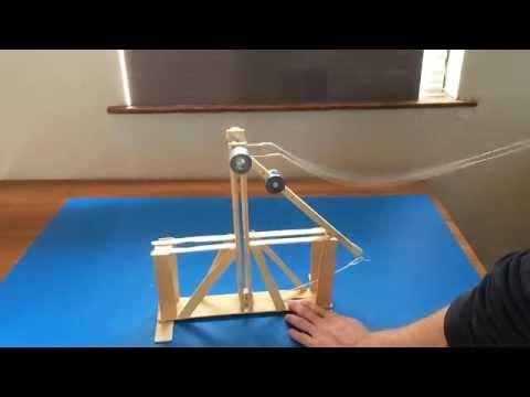 Floating Arm Trebuchet - mini sized and powerful