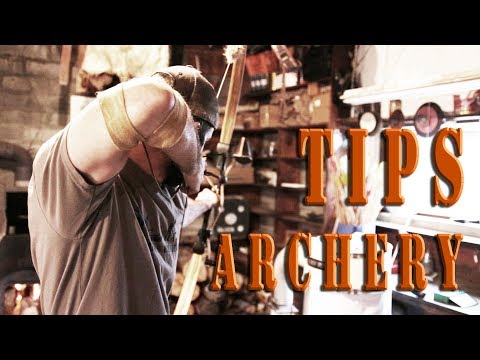 Traditional Archery Tips 4 - Back tension, archery form master, accuracy