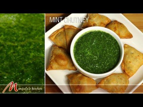 Mint Chutney - Indian Condiment Recipe by Manjula