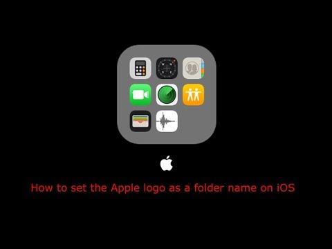 How to set the Apple logo as a folder name on iOS
