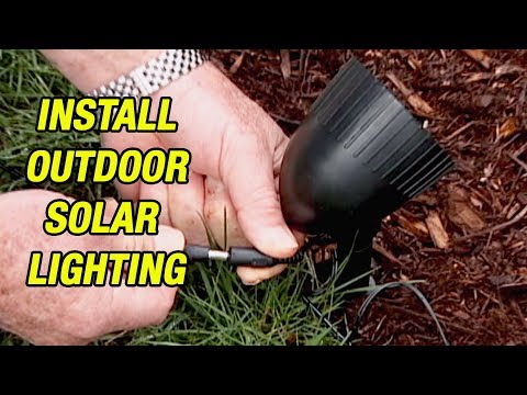 How To Install Outdoor Solar Lighting