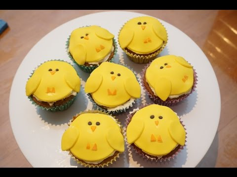 How to make Easter Chick Carrot Cake Cupcakes