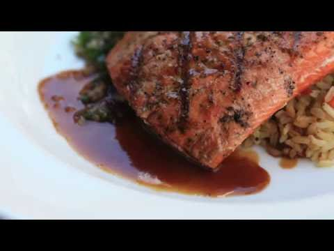 Cooking with bourbon | Glazed salmon